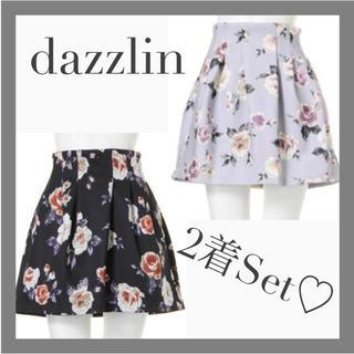 ダズリン(dazzlin)の【りぃ様専用♡】ダズリン 花柄 ボンディング Aライン フレア スカート(ミニスカート)