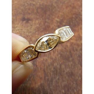人気です!イエローのマーキスカット!K18ダイヤリング 12号(リング(指輪))