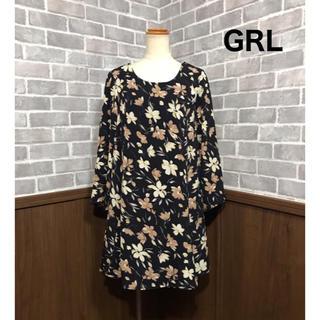 グレイル(GRL)のGRL 新品タグ付き 花柄ワンピース (ひざ丈ワンピース)