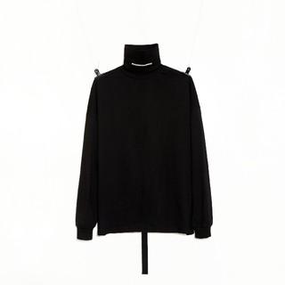 ピースマイナスワン(PEACEMINUSONE)のPEACEMINUSONE TURTLE NECK #1 BLACK(Tシャツ/カットソー(七分/長袖))