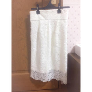 デイシー(deicy)の配色レースハイウエストタイトスカート(ひざ丈スカート)