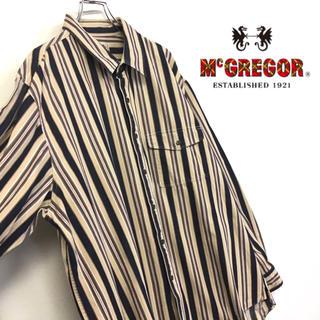 マックレガー(McGREGOR)の美品 McGREGOR ストライプ柄 古着コットンシャツ(シャツ)