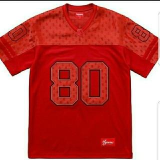 シュプリーム(Supreme)の定価以下  Supreme monogram football jersey 赤(Tシャツ/カットソー(半袖/袖なし))