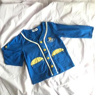 ムージョンジョン(mou jon jon)のmoujonjon ブルー 長袖カーディガン 90サイズ(カーディガン)