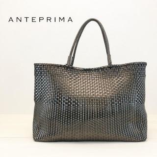 アンテプリマ(ANTEPRIMA)の極美品 アンテプリマ ワイヤーバッグ イントレッチオ 横長 ブラック(トートバッグ)