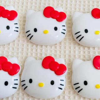 ハローキティ(ハローキティ)のキティちゃん ボタン 6個(各種パーツ)
