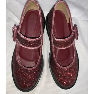 メリージェニー(merry jenny)のmerry  jenny ラメ グリッターシューズ(ローファー/革靴)