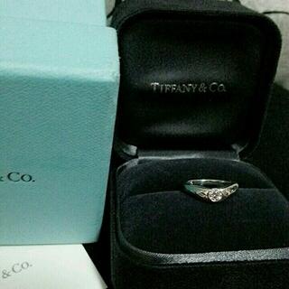 ティファニー(Tiffany & Co.)のティファニー 一粒ダイヤ プラチナ 指輪(リング(指輪))