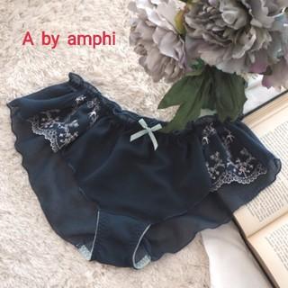 アンフィ(AMPHI)のA by amphi シフォン×エンブロイダリーレース フレアショーツ M(ショーツ)