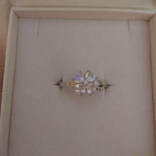 ブルームーンストーン クローバー 指輪(リング(指輪))