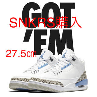 ナイキ(NIKE)のNIKE AIR JORDAN 3 RETRO Valor Blue 27.5㎝(スニーカー)