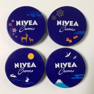ニベア - ニベア クリーム 日本の四 デザイン中缶 56g  限定品 4種類セット