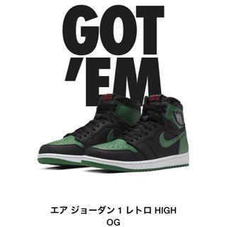 ナイキ(NIKE)の送料込 Air Jordan 1 Retro High Green 27.0cm(スニーカー)