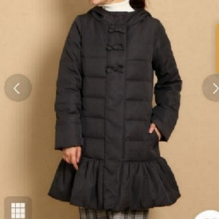 Couture Brooch - 美品クチュールブローチロングダウンコート☆ユニバーバルミューズストロベリーフィー