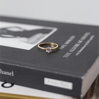 ◼︎ゴールド×ストーン真鍮リング◼︎(リング(指輪))