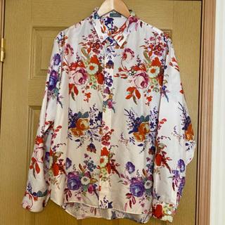 ディオールオム(DIOR HOMME)のdior シルクシャツ カウス 空山 花柄 フラワー 求 スニーカー求(シャツ)
