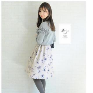 ル レーヴ ヴァニレ(le reve vaniller)のマーガレットプリントポケット付きギャザースカート (ひざ丈スカート)