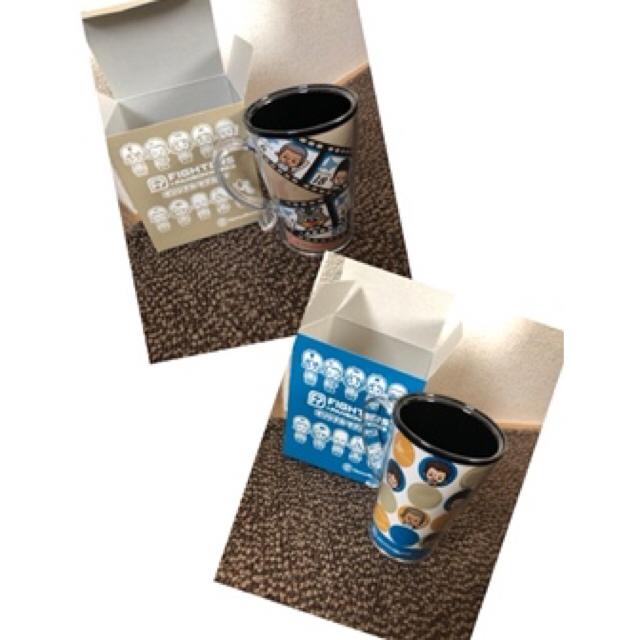 北海道日本ハムファイターズ(ホッカイドウニホンハムファイターズ)のファイターズ マグカップ 柄違い2個 スポーツ/アウトドアの野球(記念品/関連グッズ)の商品写真