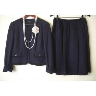 a.v.v - a.v.v ノーカラージャケット&スカート スーツ