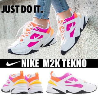 ナイキ(NIKE)のNIKE W M2K TEKNO ホワイト オレンジ ピンク 22.5cm(スニーカー)