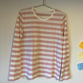 ムジルシリョウヒン(MUJI (無印良品))の無印良品 ボーダーTシャツ 未使用(Tシャツ(長袖/七分))