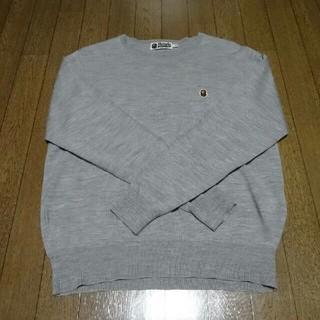 アベイシングエイプ(A BATHING APE)のアベイシングエイプ ワンポイント セーター XL(ニット/セーター)