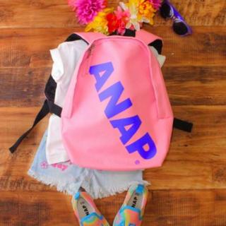 アナップキッズ(ANAP Kids)の新品 ANAPKIDS☆ロゴ リュック ピンク バッグ アナップキッズ(リュックサック)