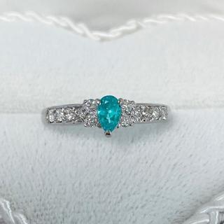 強ネオン☆パライバトルマリン ネオンブルー ダイヤモンドリング ソーティング付(リング(指輪))