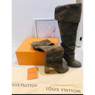 ルイヴィトン(LOUIS VUITTON)のLV ルイヴィトン ブーツ モノグラム 靴 レディース ベージュ パンプス(ブーツ)