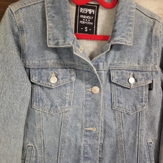 repipi armario(レピピアルマリオ)のrepipi armario/レピピ/サイズS/150/デニムジャケットGジャン キッズ/ベビー/マタニティのキッズ服女の子用(90cm~)(ジャケット/上着)の商品写真