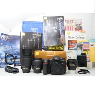 ニコン(Nikon)の【長期保証】★手ぶれ補正ズームレンズ&単焦点★ Nikon D500 ★(デジタル一眼)