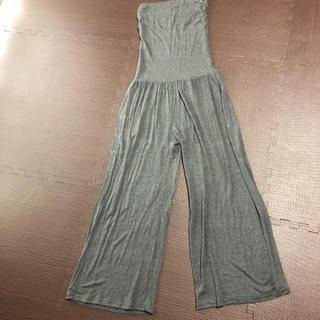 ダブルスタンダードクロージング(DOUBLE STANDARD CLOTHING)のベアトップワイドパンツ(オールインワン)