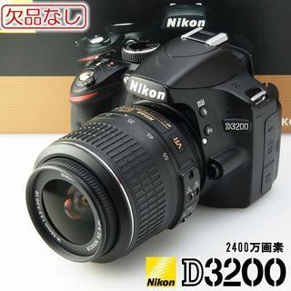 ニコン(Nikon)の欠品なし★Nikon D3200 レンズキット 高画質一眼レフ(デジタル一眼)