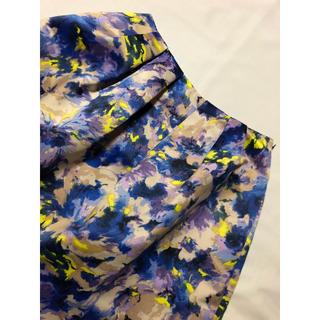 オペーク(OPAQUE)のオペーク 微光沢タックスカート(ひざ丈スカート)