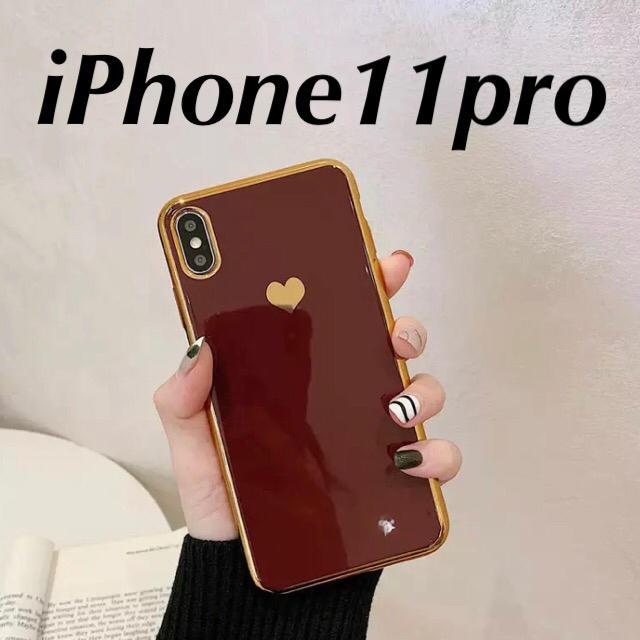 大人気ワインレッド 赤 ハート iPhone11pro ケース 大人可愛いの通販 by もも's shop ラクマ