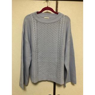 ジーユー(GU)のニット セーター ライトブルー くすみカラー(ニット/セーター)