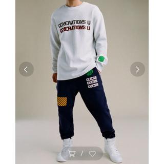 ゲス(GUESS)のGUESS GENERATIONS LOGO SWEAT PANT ネイビー S(その他)