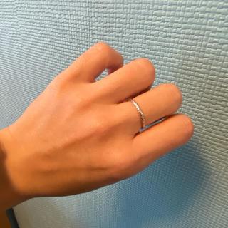 ココシュニック(COCOSHNIK)の美品!ココシュニック ホワイトゴールド カットリング(リング(指輪))