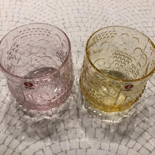 イッタラ(iittala)の新品 iittala イッタラ フルッタ レモン ピンク 2個セット(グラス/カップ)