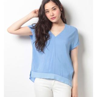 プラステ(PLST)のPLST ブルー シャツ(シャツ/ブラウス(半袖/袖なし))