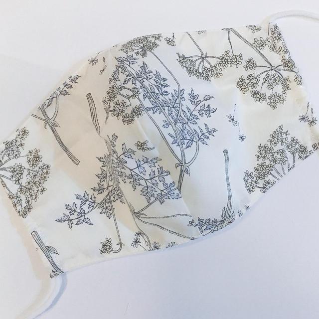 マスク 立体 型紙 - 7リバティ♡白ガーゼ 布マスクの通販