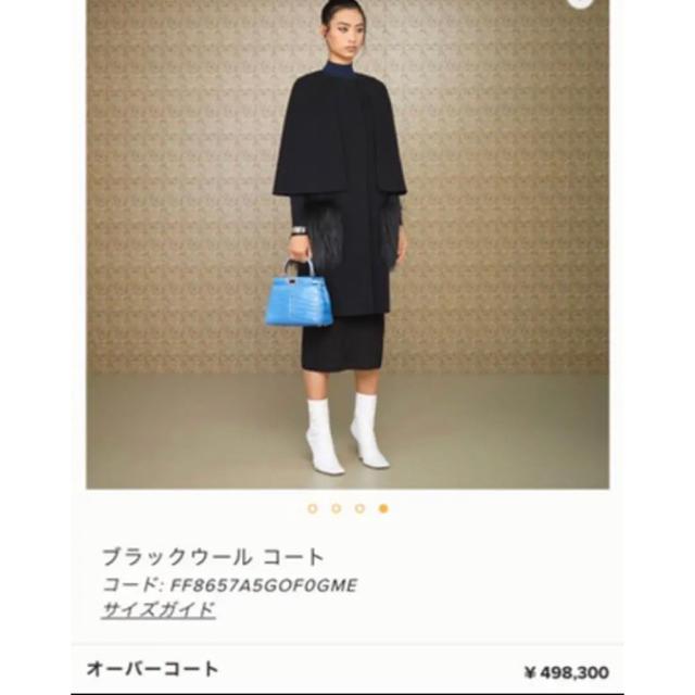 FENDI(フェンディ)のFENDI ファーケープコート 498300円 今期完売人気 黒 フェンディ レディースのジャケット/アウター(ロングコート)の商品写真