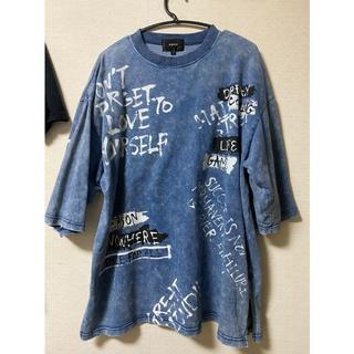 クリスチャンダダ(CHRISTIAN DADA)のペイントデザインtシャツ(Tシャツ/カットソー(半袖/袖なし))