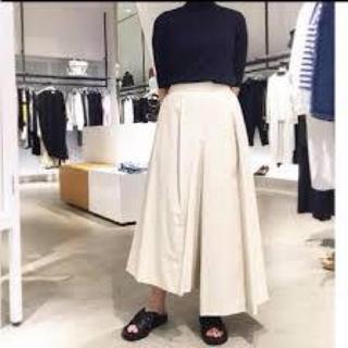 エンフォルド(ENFOLD)のENFOLD ネイビー ライトツイストCO スカートPT☆ワイドパンツ(サルエルパンツ)