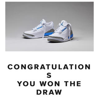 ナイキ(NIKE)のNIKE Air Jordan 3 UNC valor blue(スニーカー)