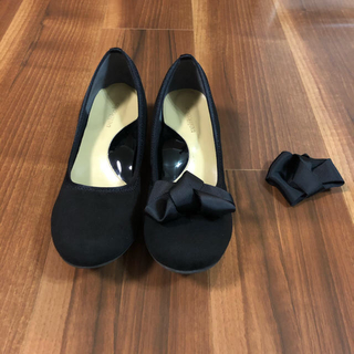 velikoko - 丸井ヴェリココ/ラクチンきれいシューズ23.5 cm 幅ワイド ブラックパンプス
