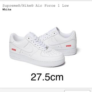 シュプリーム(Supreme)の送料込 Supreme® Nike® Air Force 1 ホワイト 27.5(スニーカー)