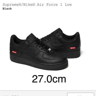 シュプリーム(Supreme)の送料込 Supreme® Nike® Air Force 1 ブラック 27.0(スニーカー)