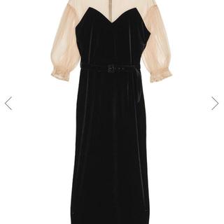 アメリヴィンテージ(Ameri VINTAGE)の田中みな実さん着用 アメリヴィンテージ ドレス新品未使用 M 正規品 即日発送可(ロングドレス)