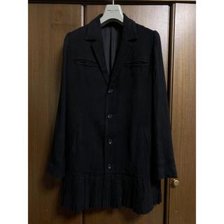 ヨウジヤマモト(Yohji Yamamoto)の  ヨウジヤマモト 裾プリーツデザインジャケット 【1177】(テーラードジャケット)